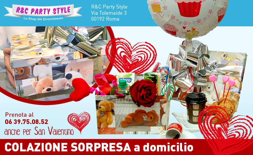 Da RC Party Stile i box colazione a domicilio regalo