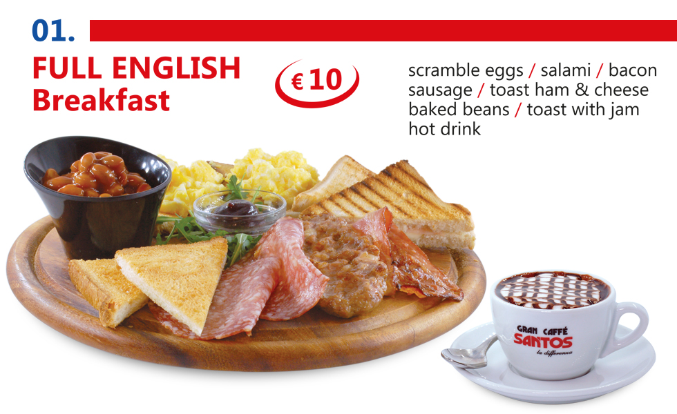 International breakfast in Rome Vatican area - English breakfast
