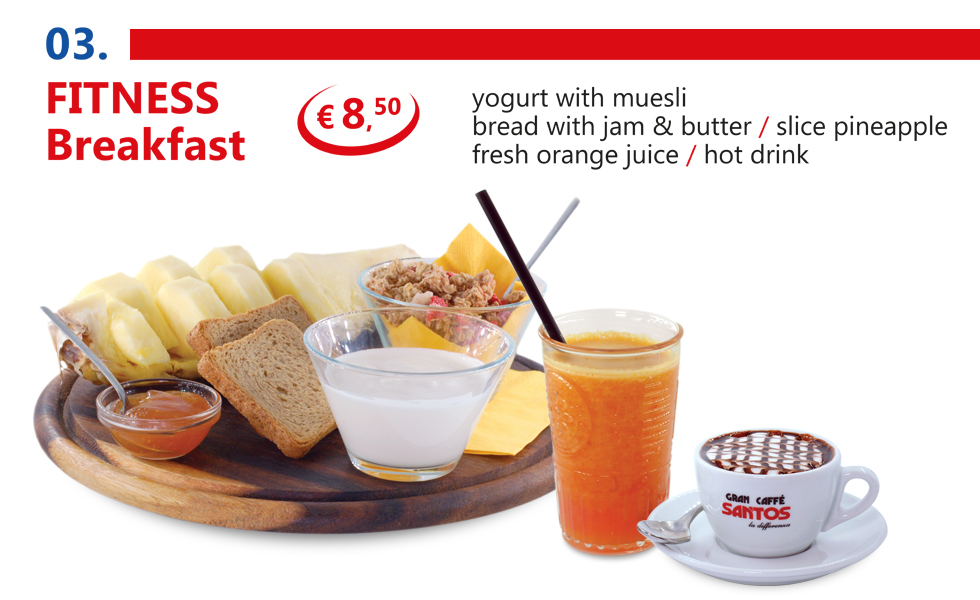 International breakfast in Rome Vatican area - Fitness breakfast